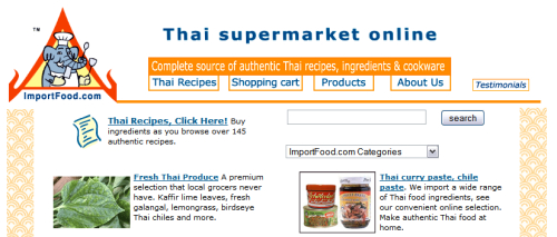 Thai Food Supermarket Online:<br />ImportFood.com