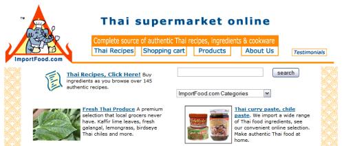 Thai Food Supermarket Online:<br />ImportFood.com