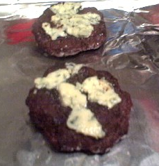 Blackened Blue Cheese Burgers Recipe