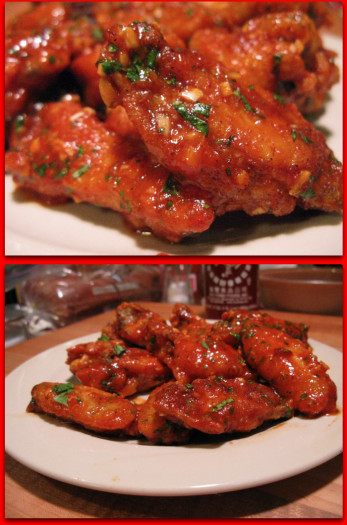 Sriracha Garlic Wings 2010