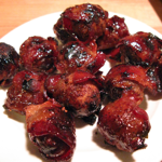 MOINK Balls 101 – Video showing easy to make bacon wrapped meatball appetizers