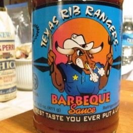 Texas Rib Rangers Barbecue Sauce Label