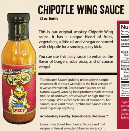 Review Torchbearer Sauces All Natural Chipotle Wing Sauce