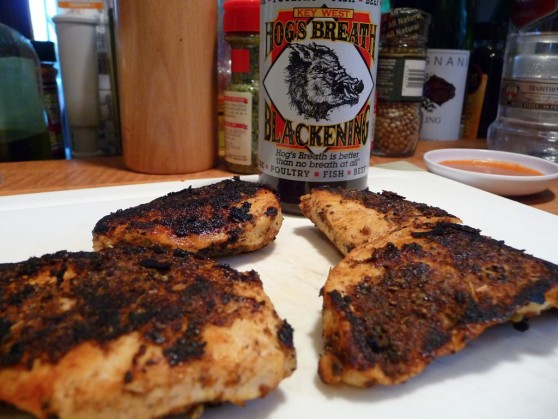 Hogs Breath Blackening Seasoning on Chicken