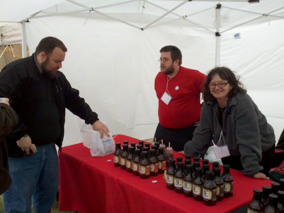 Todd & Jo Dooms of Doomer's Q Sauce at Pork in the Park 2011