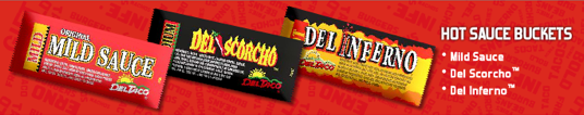 Del Taco sauce packets