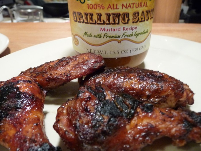 mustard grilled wings