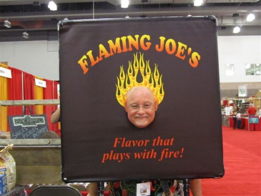 Our Author Ken Alexander as a Flaming Head