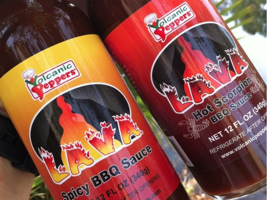 Spicy and Hot LAVA BBQ Sauces