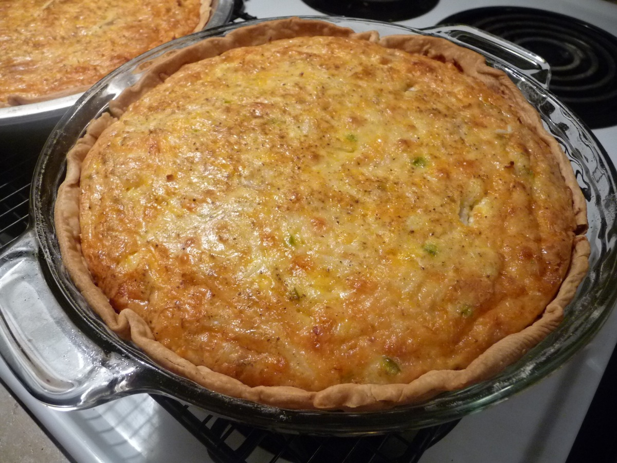 Crab Pie finished in glass dish