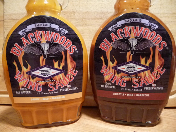 Blackwoods Wing Sauce Garlic Parmesan and Chipotle Barbecue review