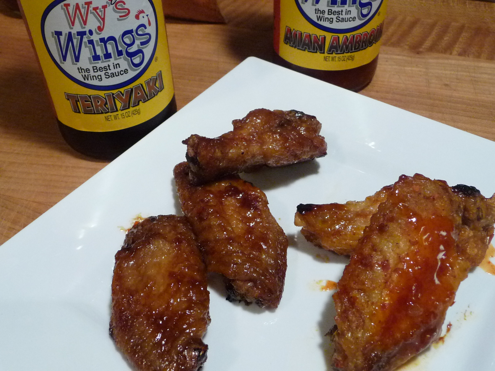 Wy's Asian sauces on wings
