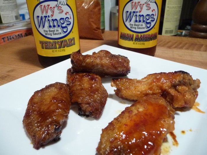 Wy's Wings Teriyaki and Asian Ambrosia sauces
