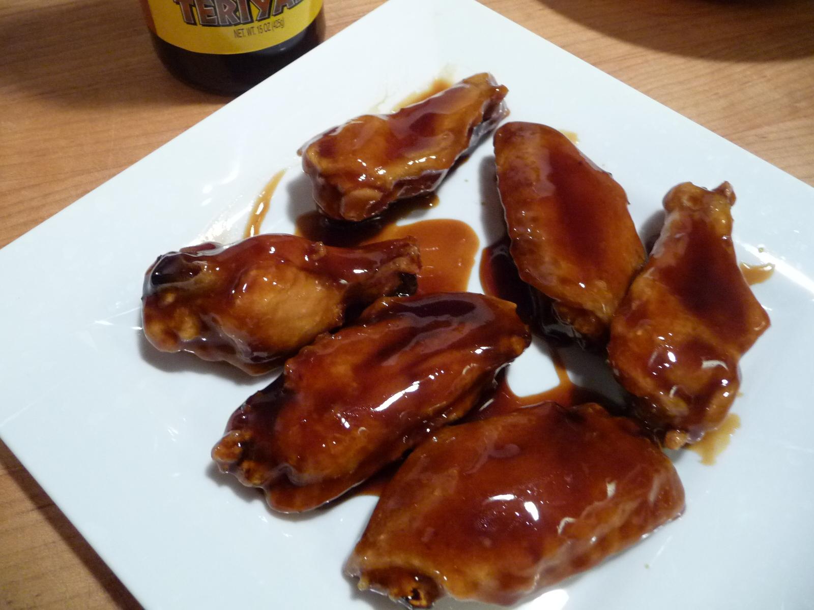 wy's teriyaki sauce on wings
