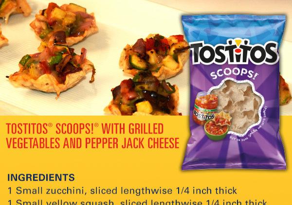 grilled veggies in scoops recipe