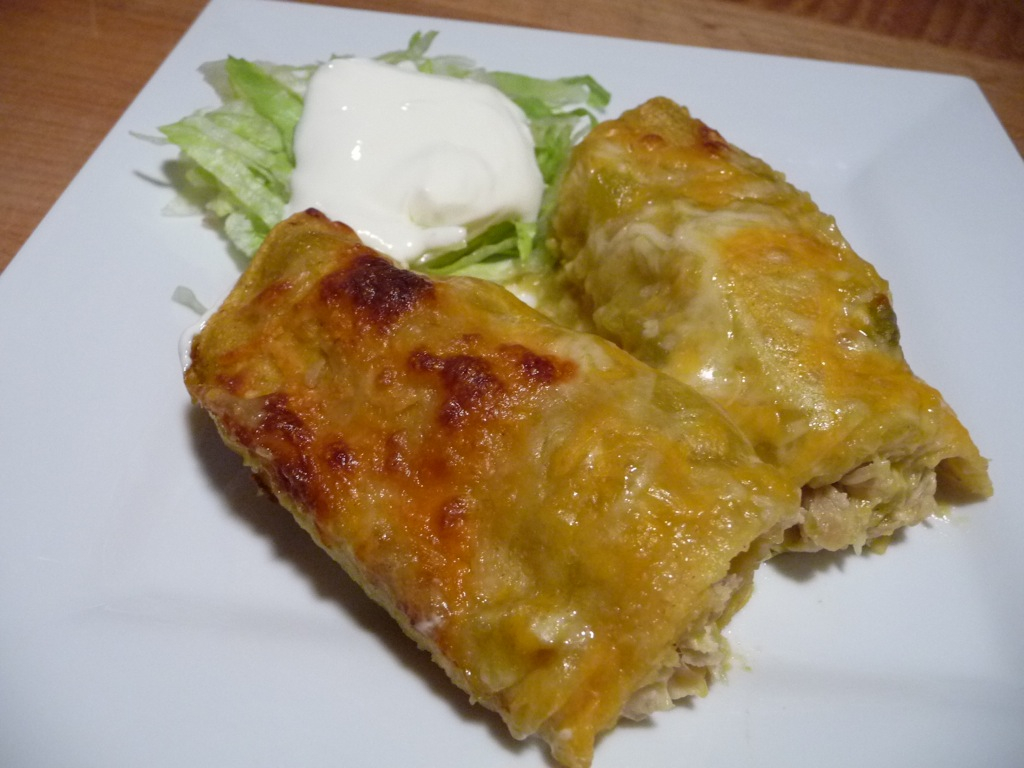 Easy Green Chile Enchiladas Recipe — Dishmaps