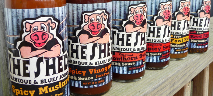 The Shed BBQ Sauces Lineup