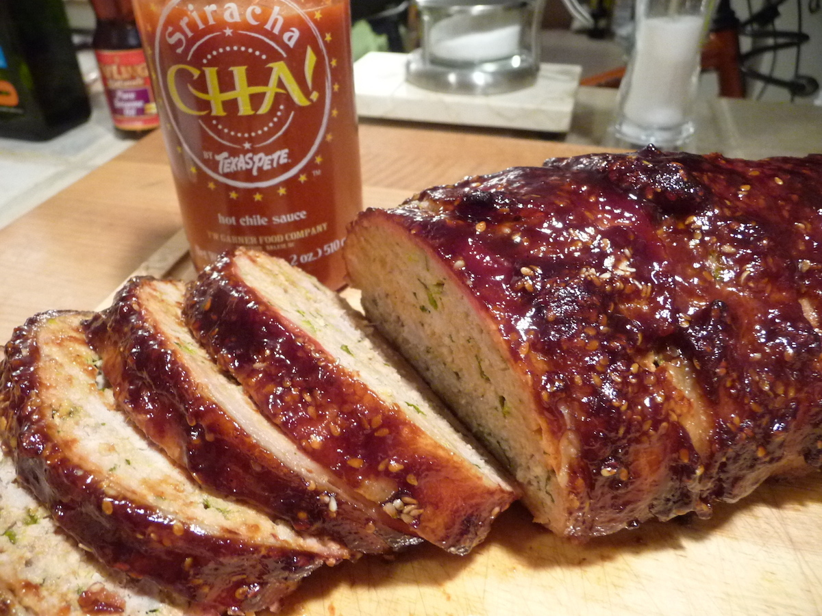 Spicy Bacon Wrapped Meatloaf recipe with Texas Pete CHA! Sriracha ...