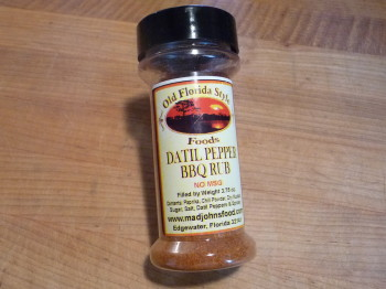 datil pepper bbq rub bottle