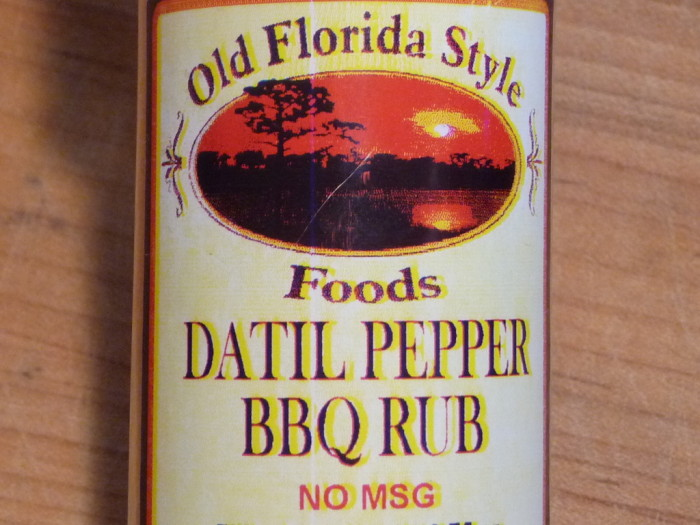 datil pepper bbq rub label