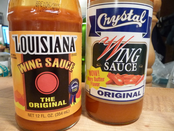 Crystal and Louisiana Brand Wing Sauces