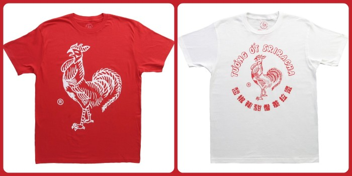 sriracha tees choices
