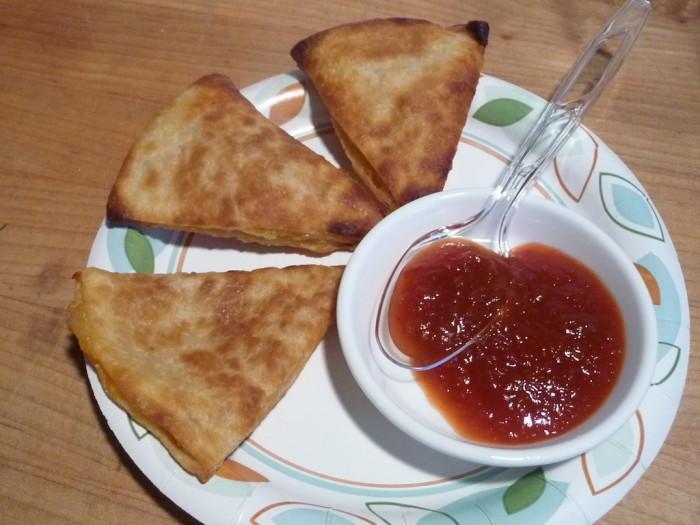 710 Datil Sauce on Chicken Quesadillas