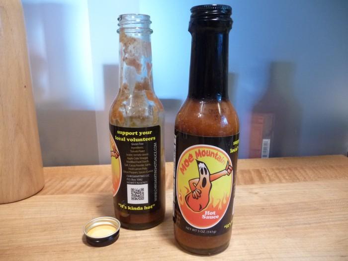 Moe Mountain Hot Sauce Bottles