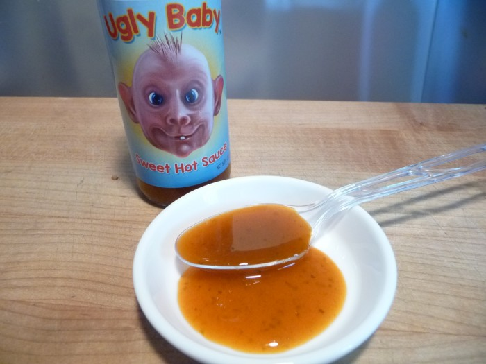Ugly Baby Sweet Hot Sauce closeup