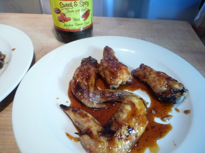 Wings with Hot Alaskan Umami Sauce