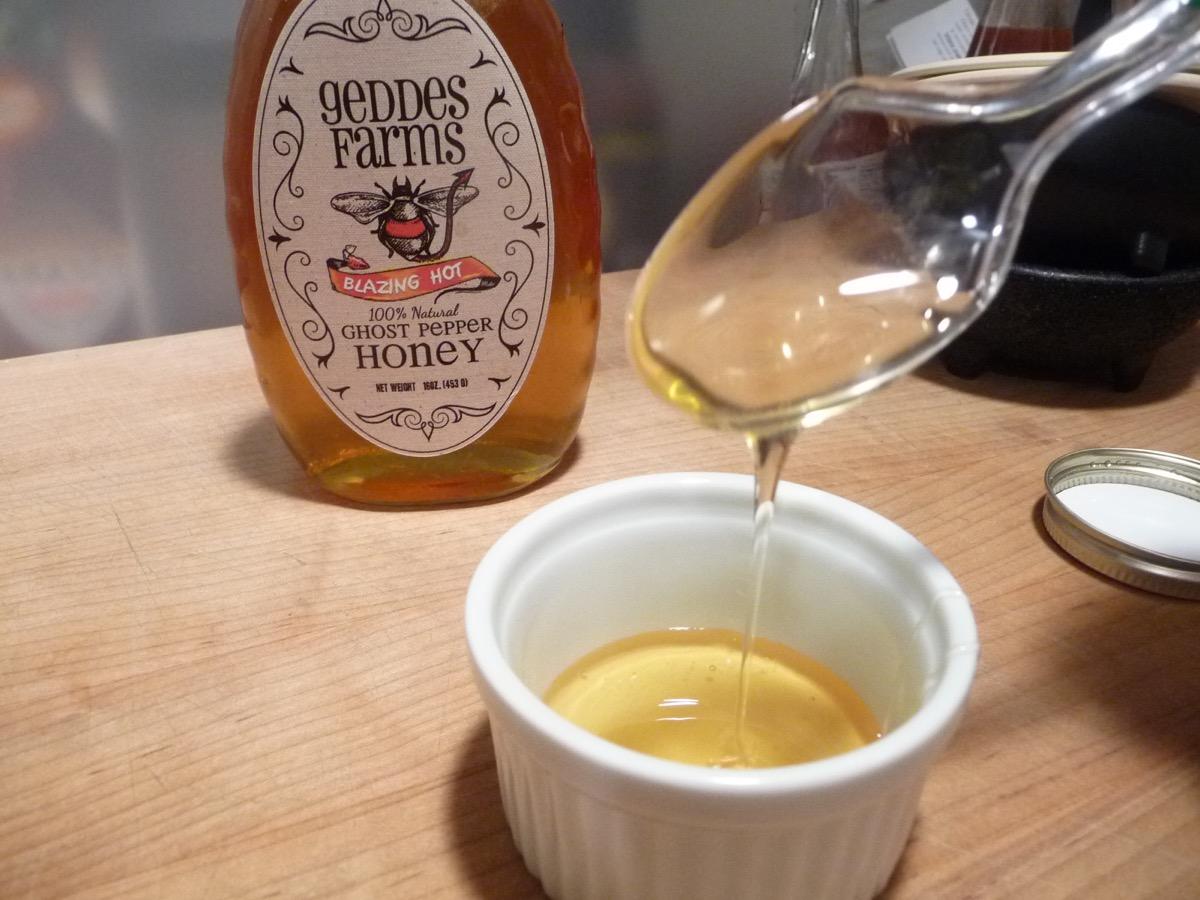 Clear raw honey from Geddes Farms