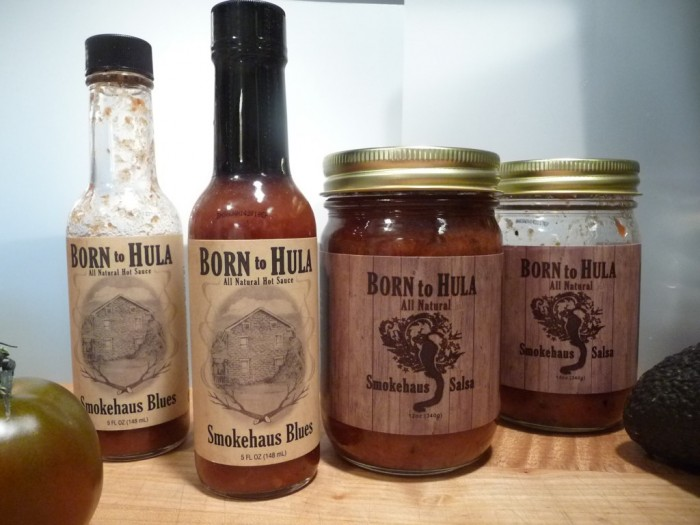 born to hula smokehaus hot sauce salsa