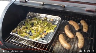 Brats and Grilled Veggies on REC TEC Mini Smoker