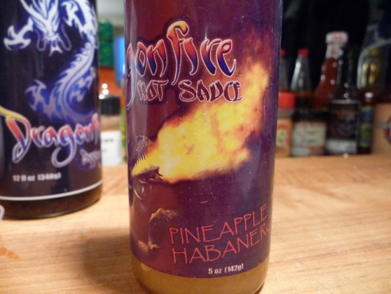 Dragonfire Pineapple Habanero Label