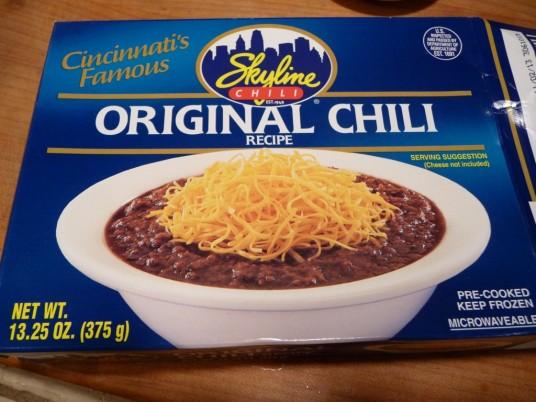 Skyline frozen chili
