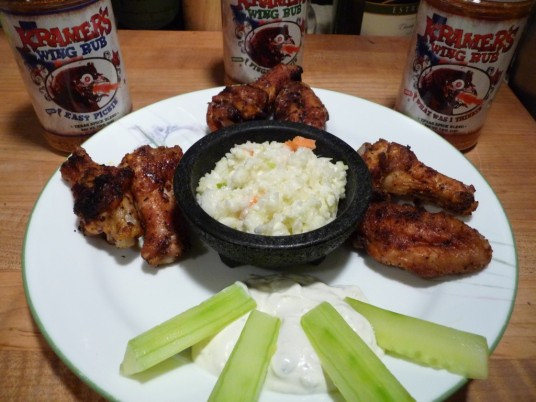 All 3 Kramer's Wing Rubs Finished with dip