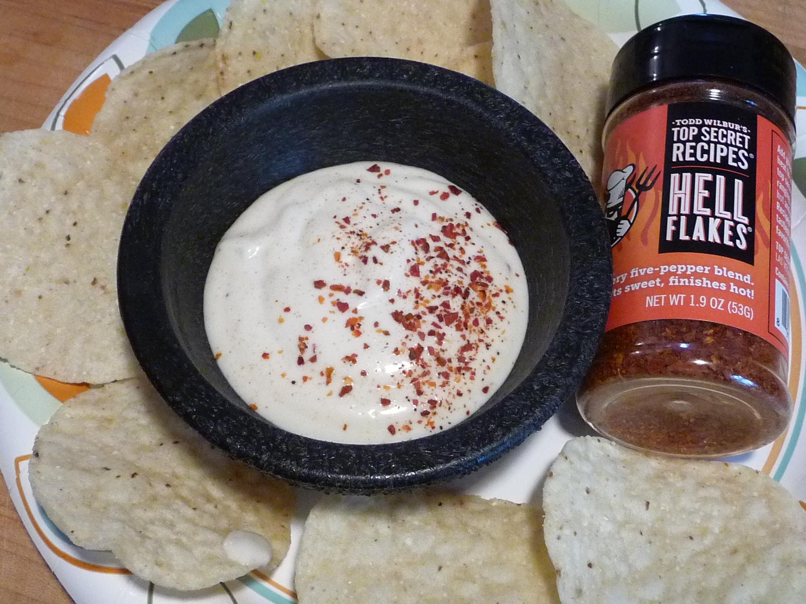 hell flakes on salsa blanco