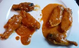 SAAS Hot Wings with Onion & Garlic sauce