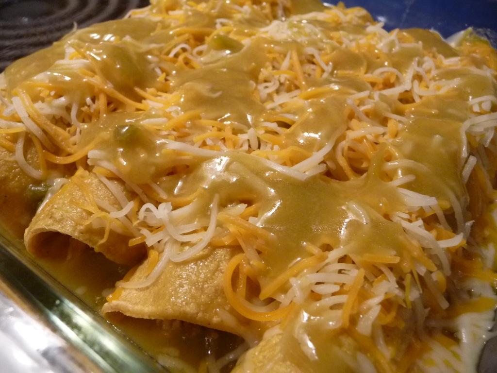 more cheese on enchiladas