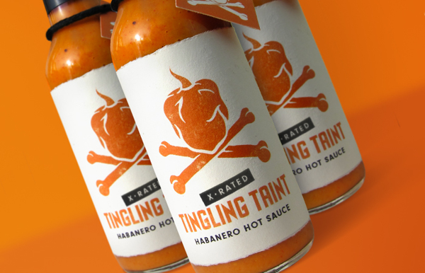 tingling taint habanero hot sauce labels