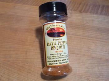 datil pepper bbq rub bottle