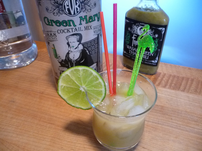 Green Mary Cocktail