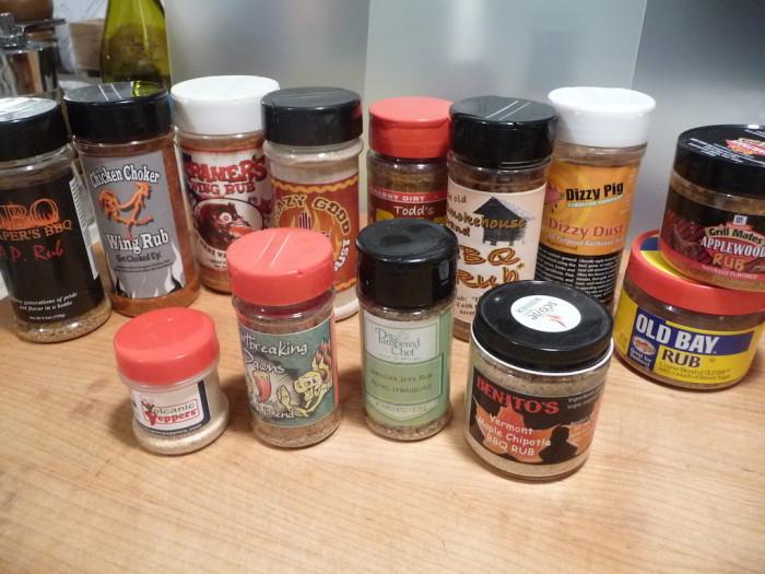 BBQ Rubs in bottles