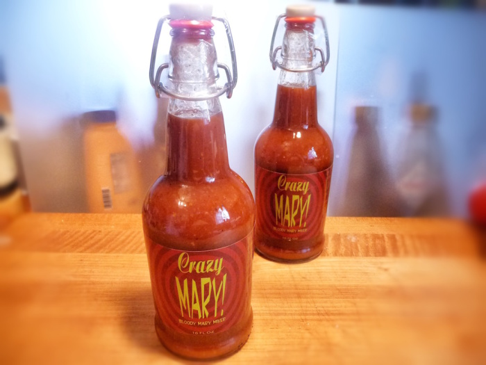 two crazy mary flip top bottles