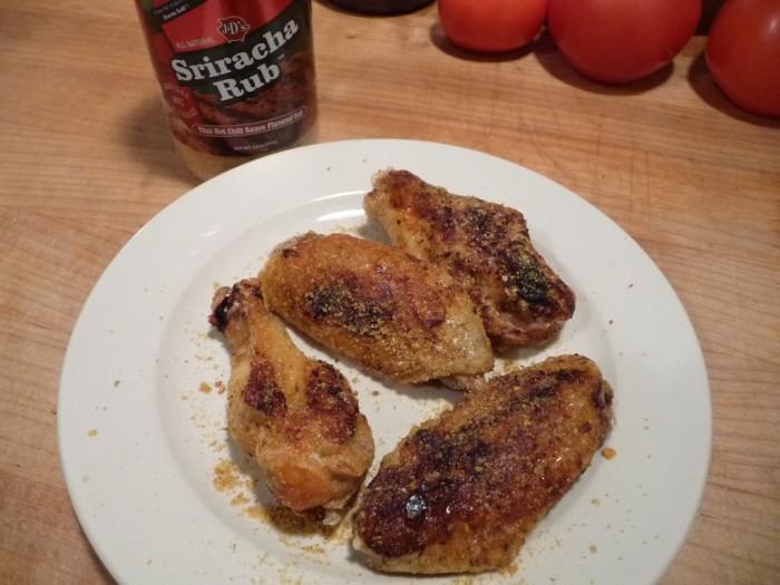 J&D's Sriracha Rub wings