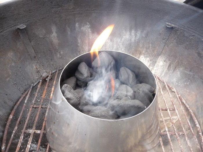 Coals getting all hot and happy. This sucker will be a mini wing furnace soon.
