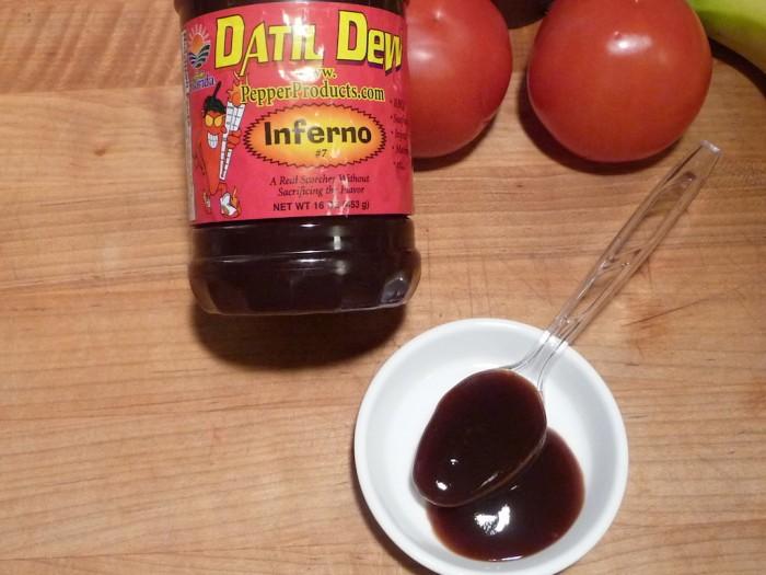 Datil Dew Inferno sauce closeup