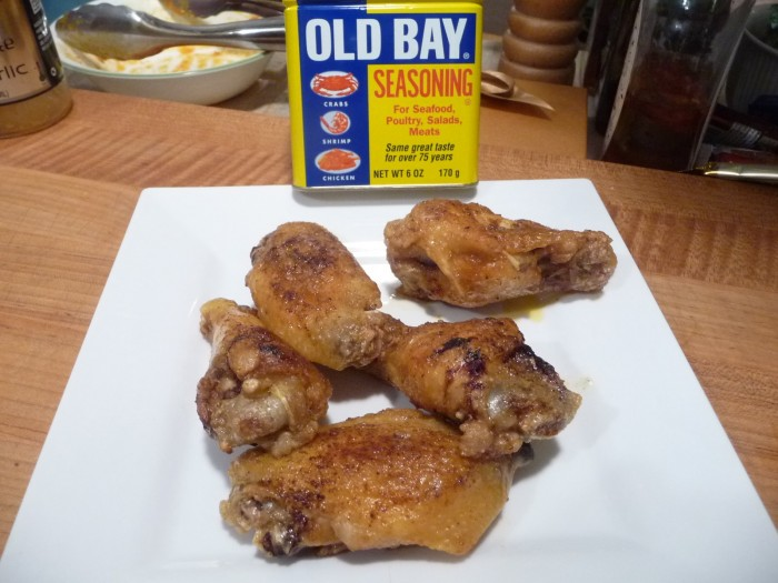 Old Bay dry rubbed wings