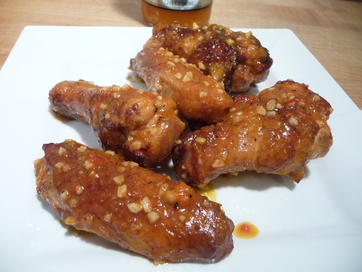 The Flaming Chicken Hot Garlic Wings
