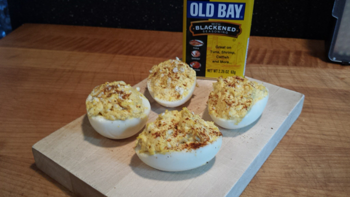 old bay blackened seasoning in deviled eggs recipe